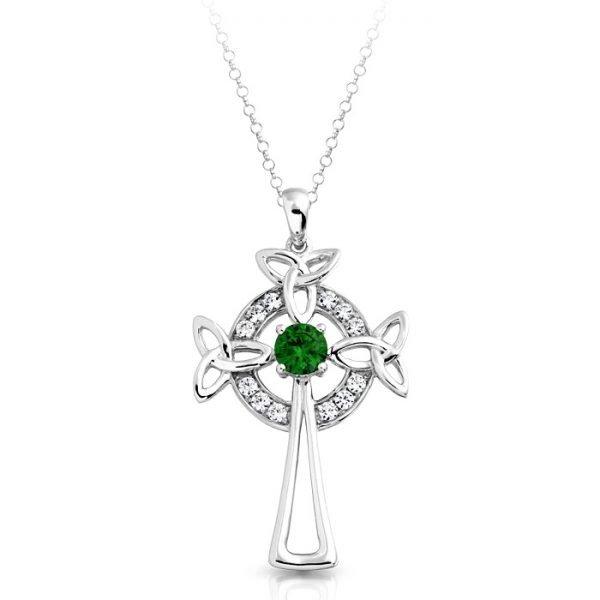 Silver Celtic Cross-SC01CL