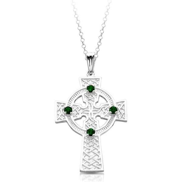 Silver Celtic Cross-SC02CL