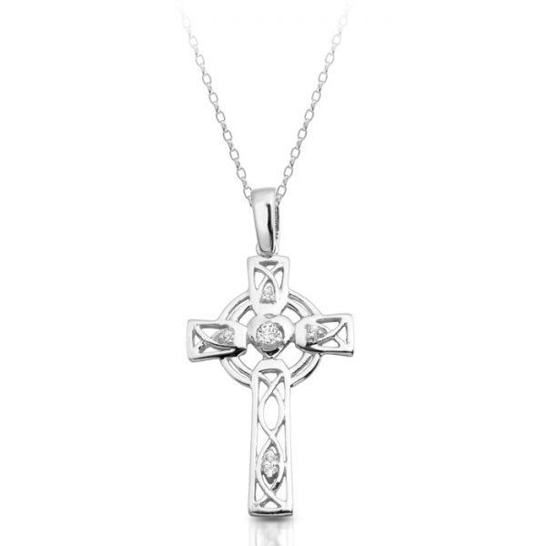 Silver Celtic Cross-SC138CL