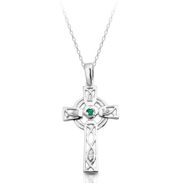 Silver Celtic Cross-SC138GCL
