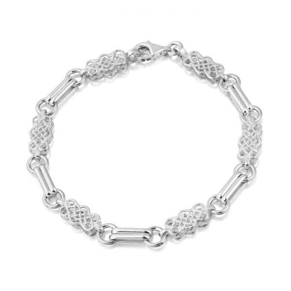 Silver Celtic Bracelet-SB02CL