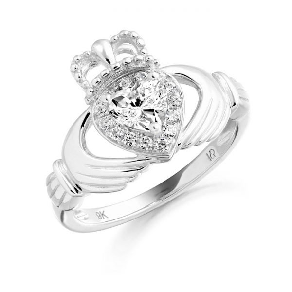 Silver Claddagh Ring-SCL28CL