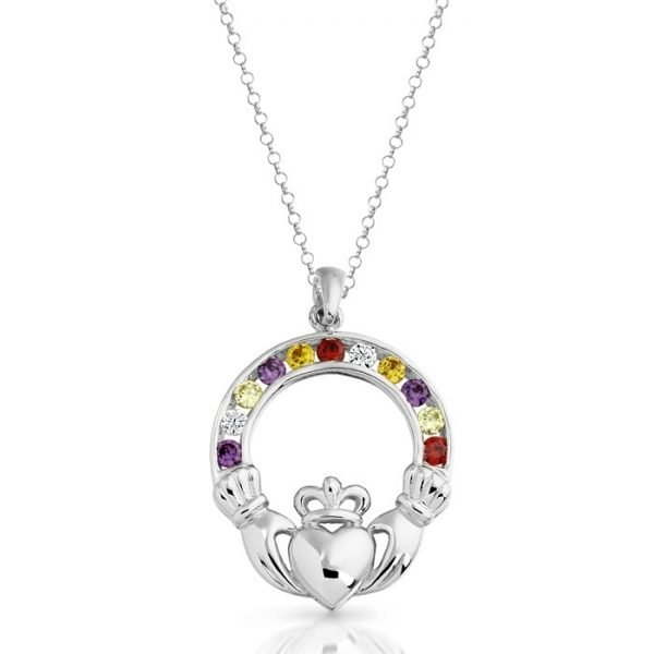 Silver Claddagh Pendant-SP014MCL