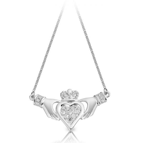 Silver Claddagh Pendant-SP038CL