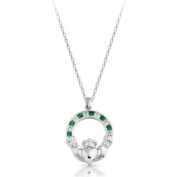 Silver Claddagh Pendant-SP014GSCL