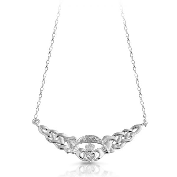 Silver Claddagh Necklace-SP01CL
