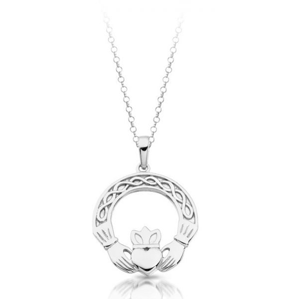 Silver Claddagh Pendant-SP025CL