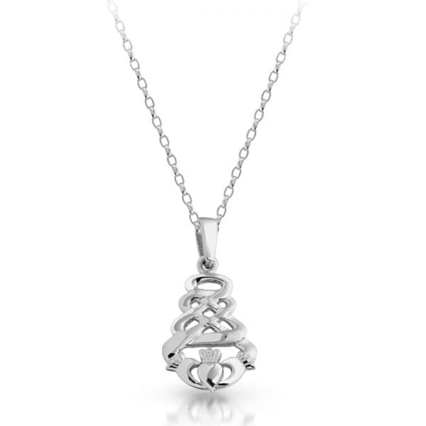 Silver Claddagh Pendant-SP32CL