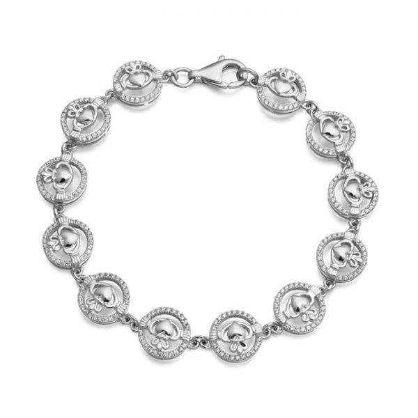 Silver Claddagh Bracelet-SCLB31CL