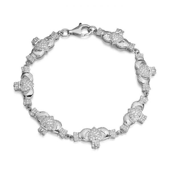 Silver Claddagh Bracelet-SCLB39CL