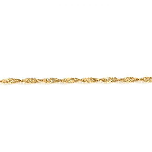 Gold Twisted Curb Chain-DISCO20CL
