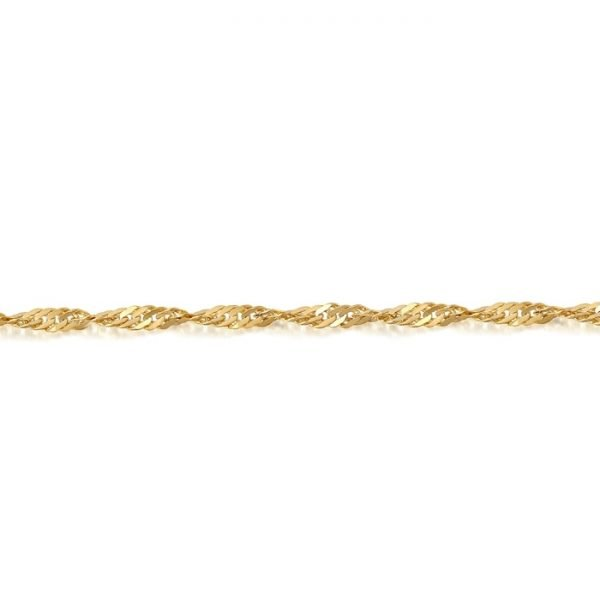 Gold Twisted Curb Chain-DISCO25CL