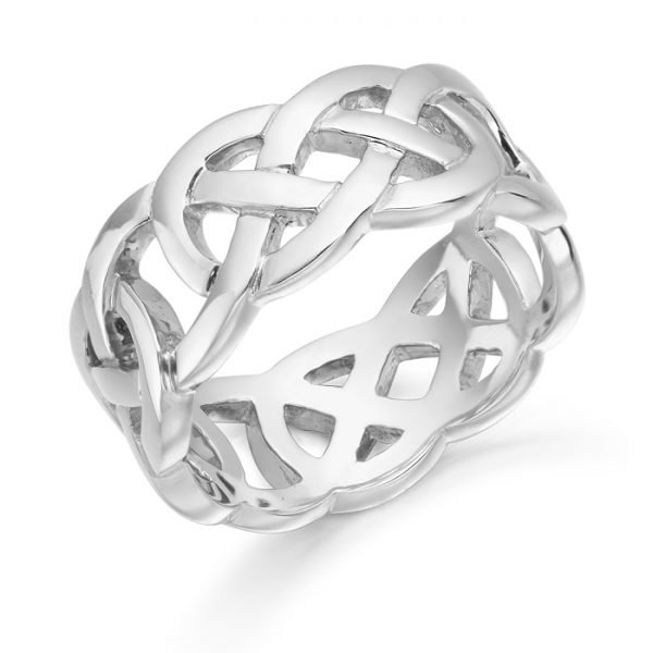 Silver Celtic Wedding Ring-S1519CL