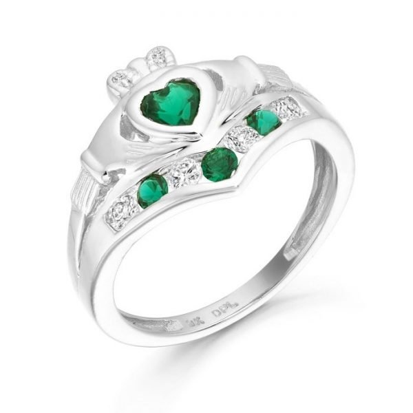 Silver Claddagh Ring-SCL29CL