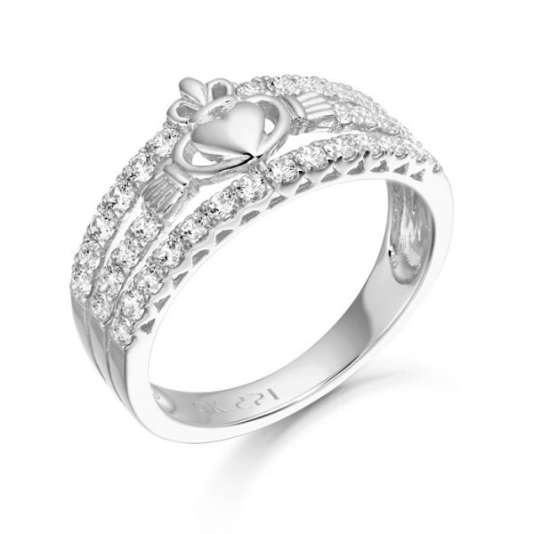 Silver Claddagh Ring-SCL31CL