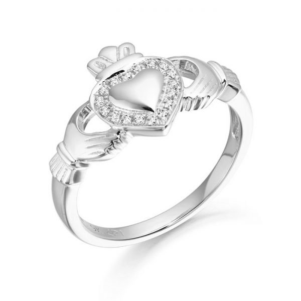 Silver Claddagh Ring-SCL32CL