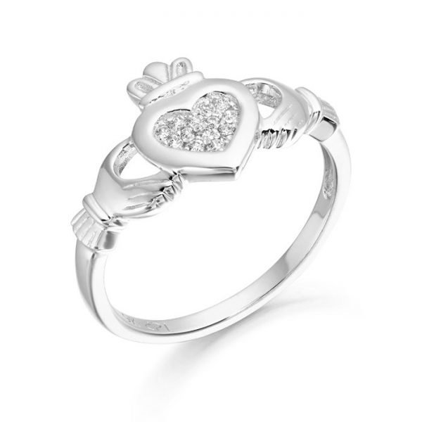 Silver Claddagh Ring-SCL33CL