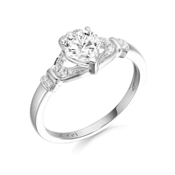 Silver Claddagh Ring-SCL37CL