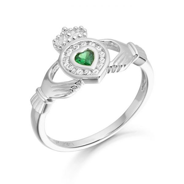 Silver Claddagh Ring-SCL38CL
