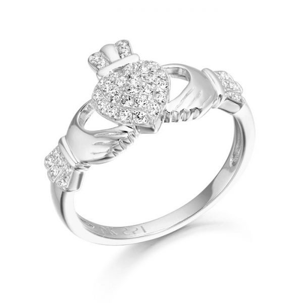 Silver Claddagh Ring-SCL39CL
