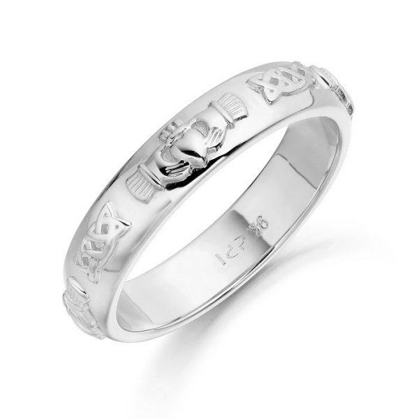 Silver Claddagh Wedding Ring-SCL41CL