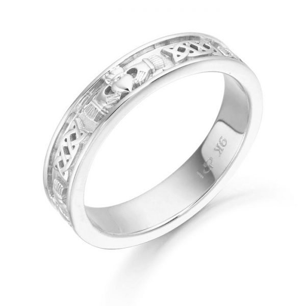 Silver Claddagh Wedding Ring-SCL43CL