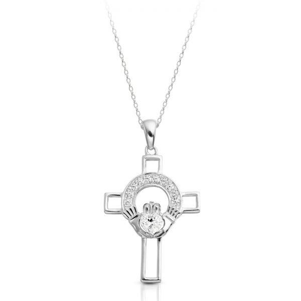 Silver Claddagh Cross-SC125CL