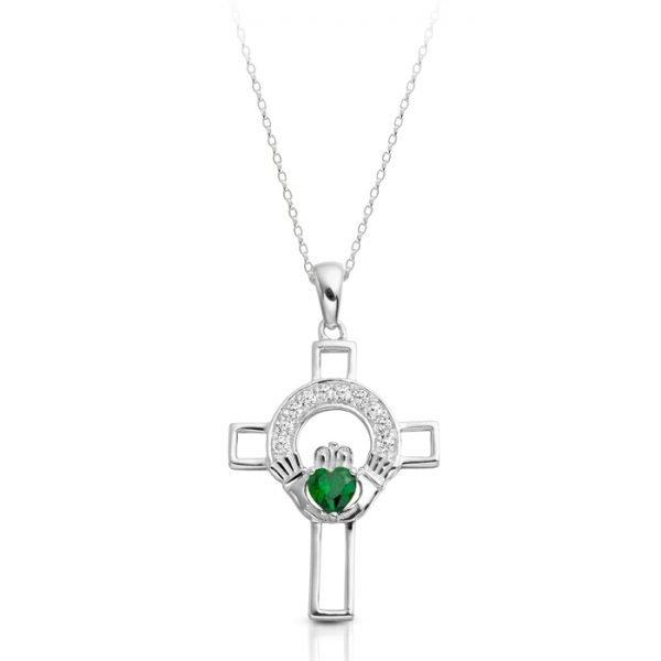 Silver Claddagh Cross-SC125GCL