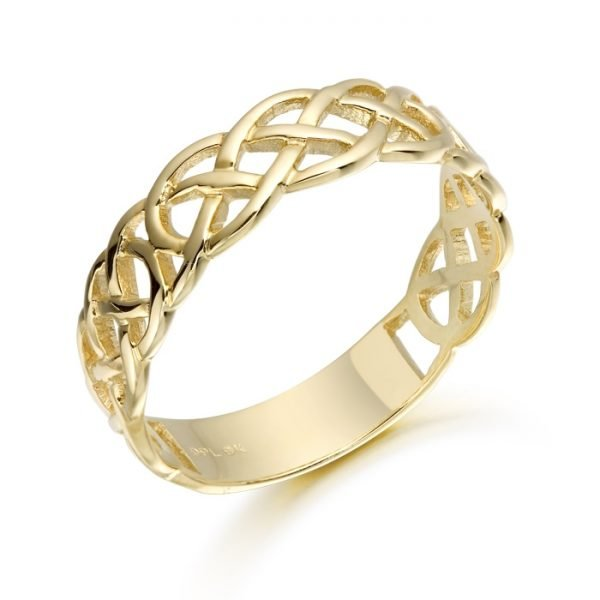 Gold Celtic Wedding Ring-1500CL