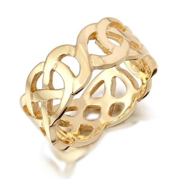 Gold Celtic Wedding Band-1517CL