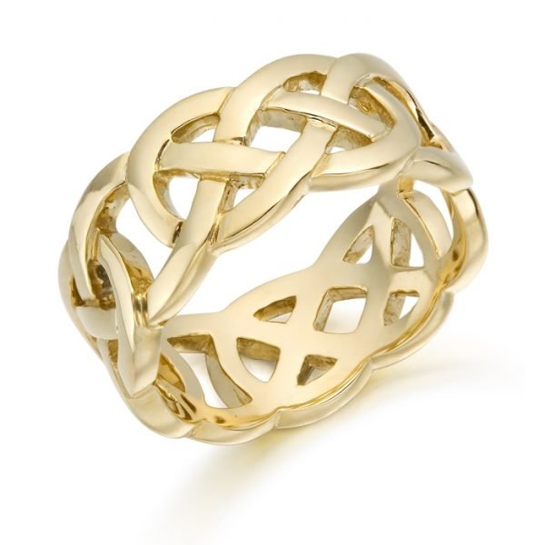 Gold Celtic Wedding Band-1519CL