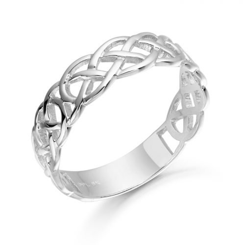 White Gold Celtic Ring