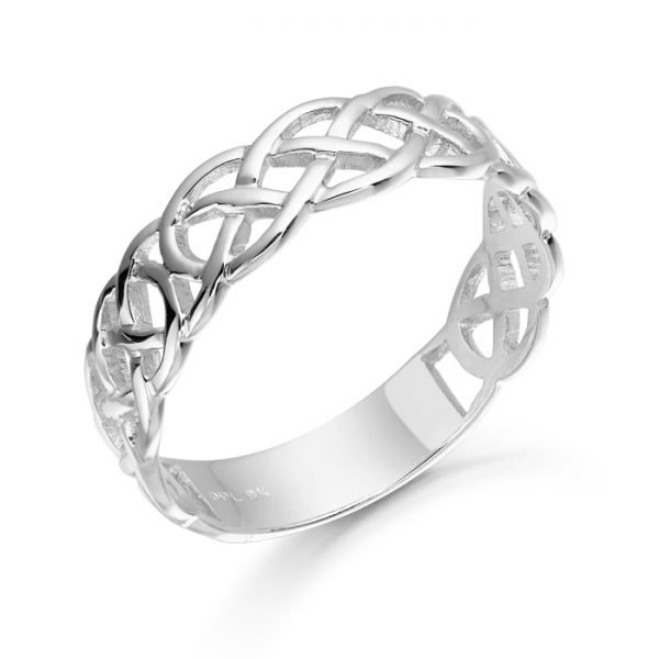 White Gold Celtic Wedding Ring-1500WCL