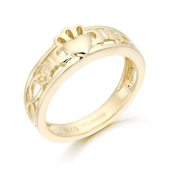 Claddagh Ring with Celtic Knot design-CL3CL