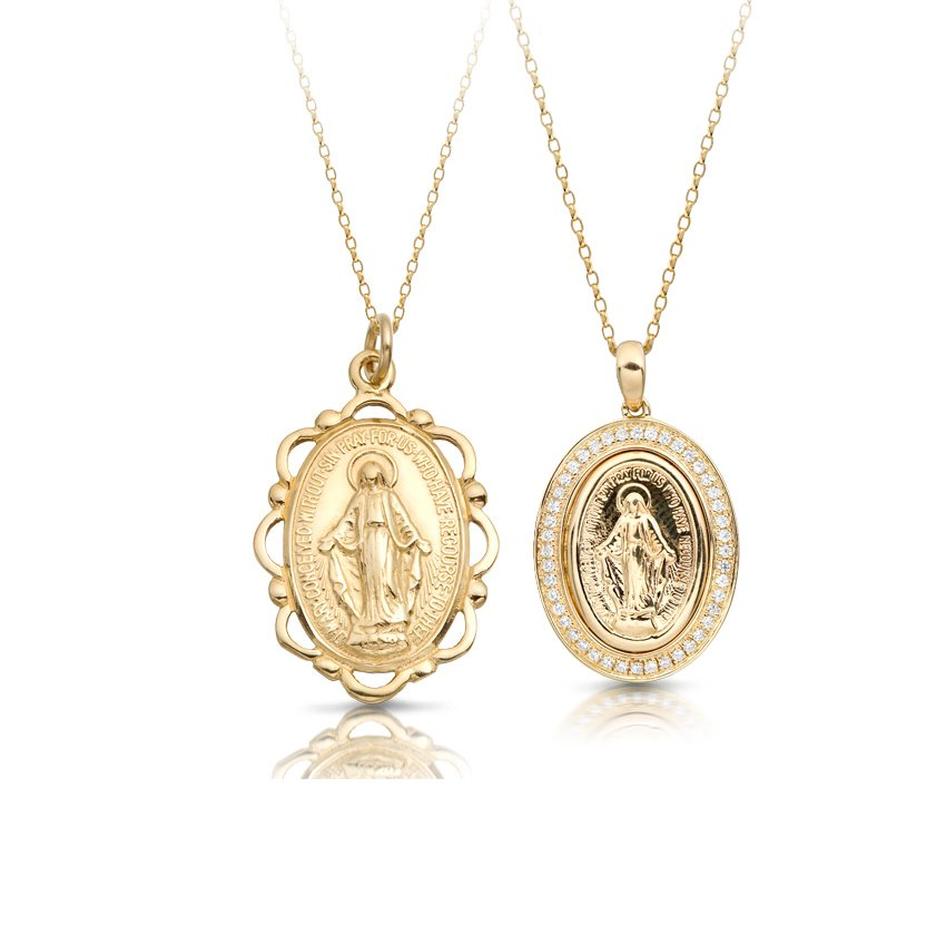 Miraculous Medals Finished With A Sleek Silhouette Of