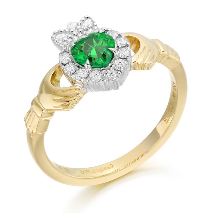 Diamond Claddagh Ring-CLDIA5CL