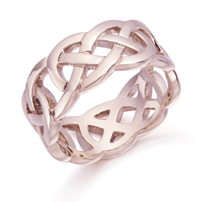 Rose Gold Celtic Wedding Ring - 1519RCL