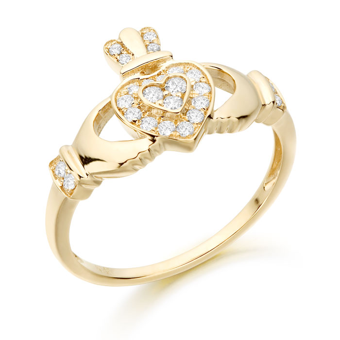 9ct Gold Ladies Claddagh Ring - CL9