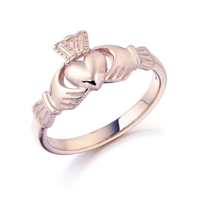Rose Gold Claddagh Ring-CL8RCL