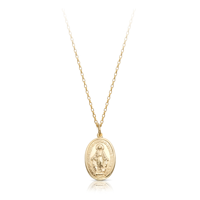 9K Gold Miraculous Medal-MM15CL